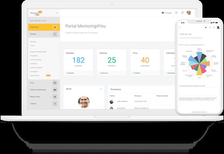 Portal Mentoring4You é multiplataformas. Ferramentas online para coaches, mentores, consultores e líderes que queiram trabalhar a gestão de pessoas, psicólogos e profissionais do desenvolvimento humano.